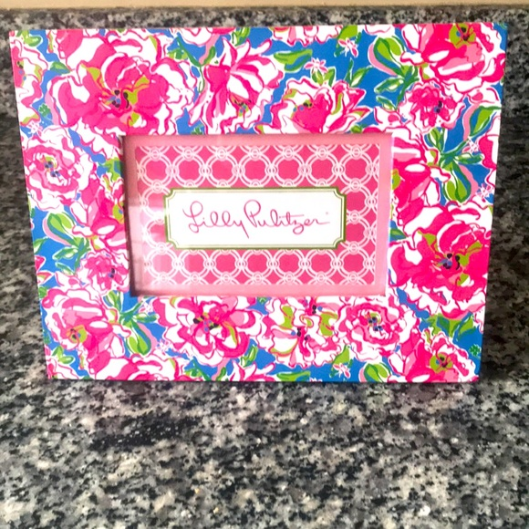 Lilly Pulitzer frame in Lucky Charms